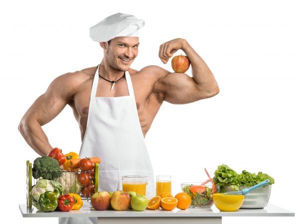 muz v kuchyni