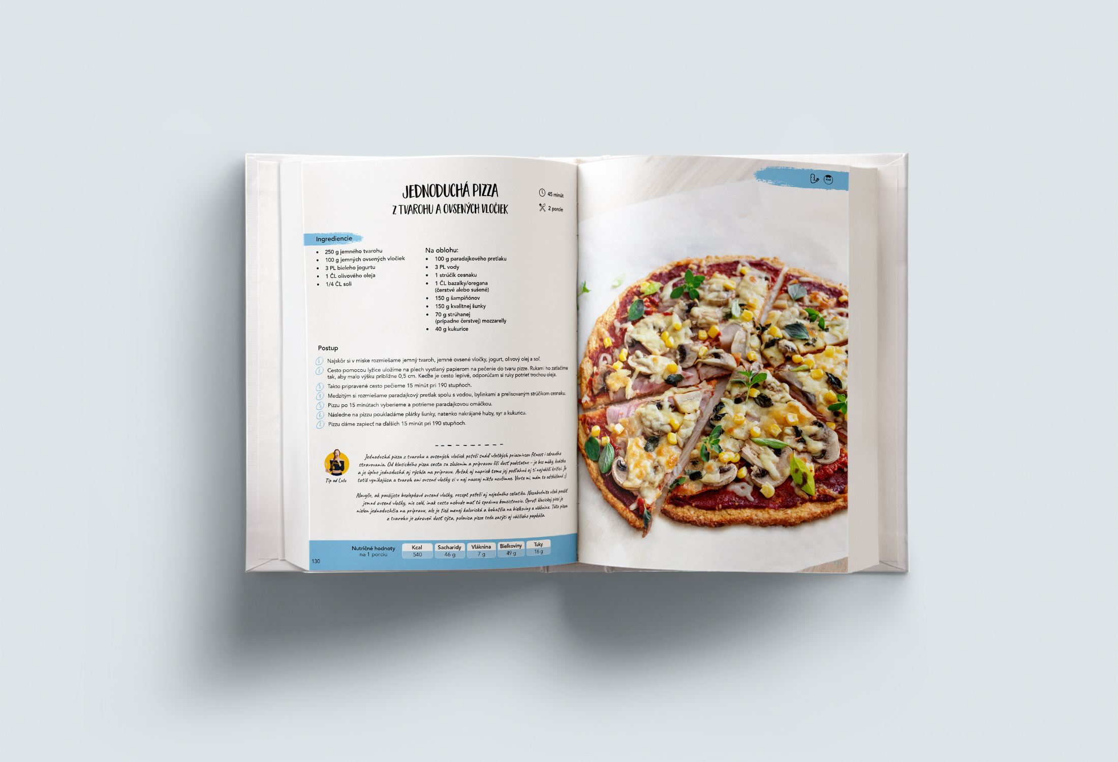 kniha fit recepty - obedy a večere - ukážka 2